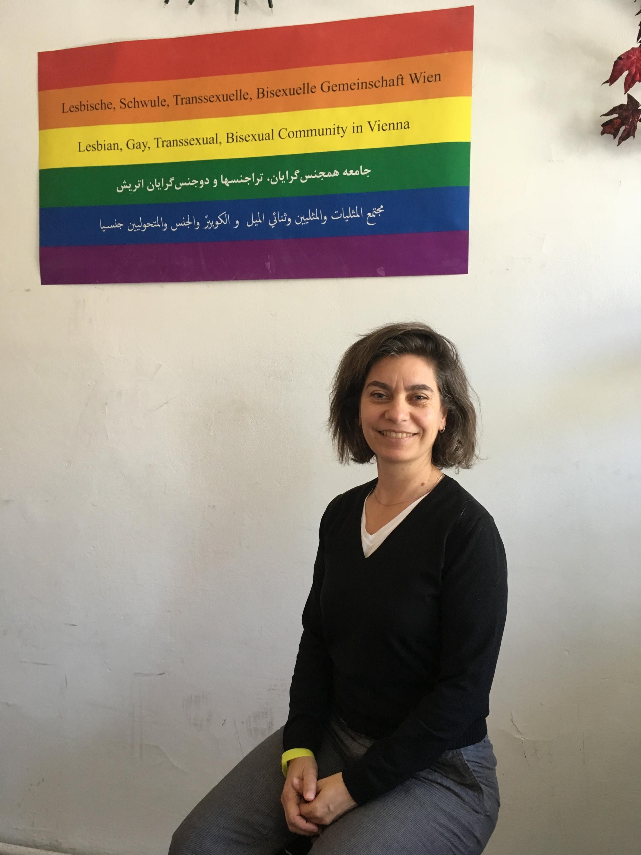 Председатель австрийской НКО Queer Base, защищающей права мигрантов ЛГБТ Сесиль Бальбус