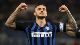 Dan wasan gaba na Inter Milan Mauro Icardi.