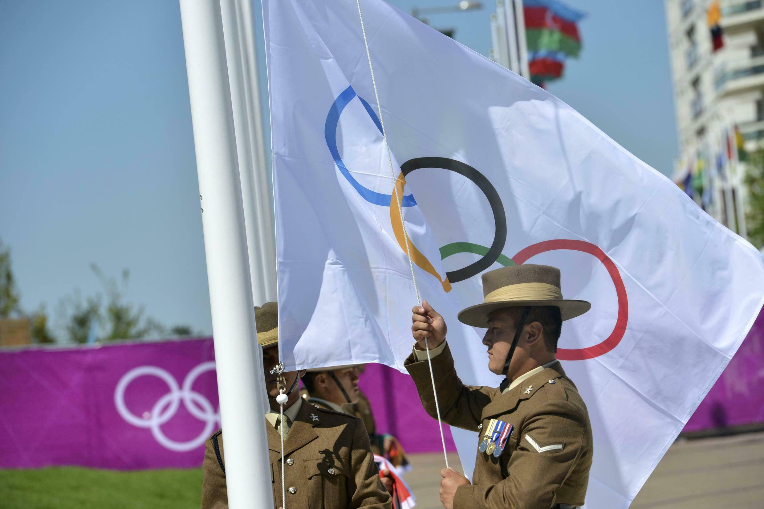 Doublet SA, a French company, has supplied the official flags for the 2012 Olympic Games