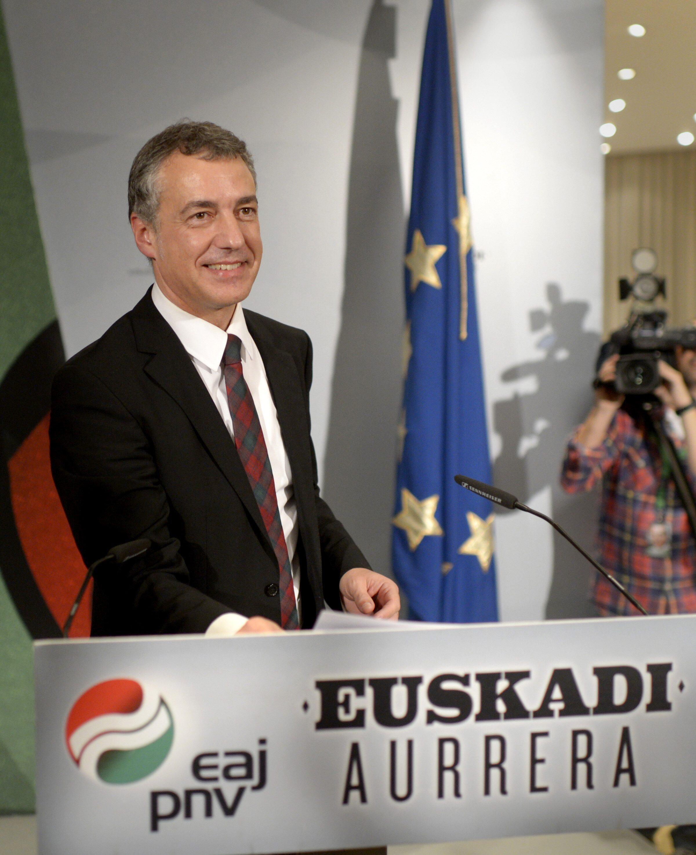 O candidato do Partido Nacionalista Basco, Iñigo Urkullu, venceu as eleições deste domingo na região.