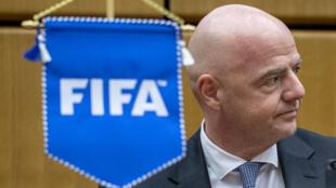 Shugaban FIFA, Gianni Infantino a kasar Austria. 4/9/2020.