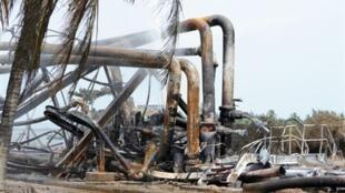 Un oléoduc de la compagnie pétrolière nationale nigériane ayant été saboté (photo d'illustration).