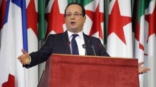 François Hollande speaks on Thursday
