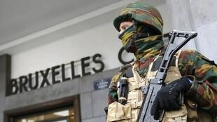 Heightened security outside Brussels station