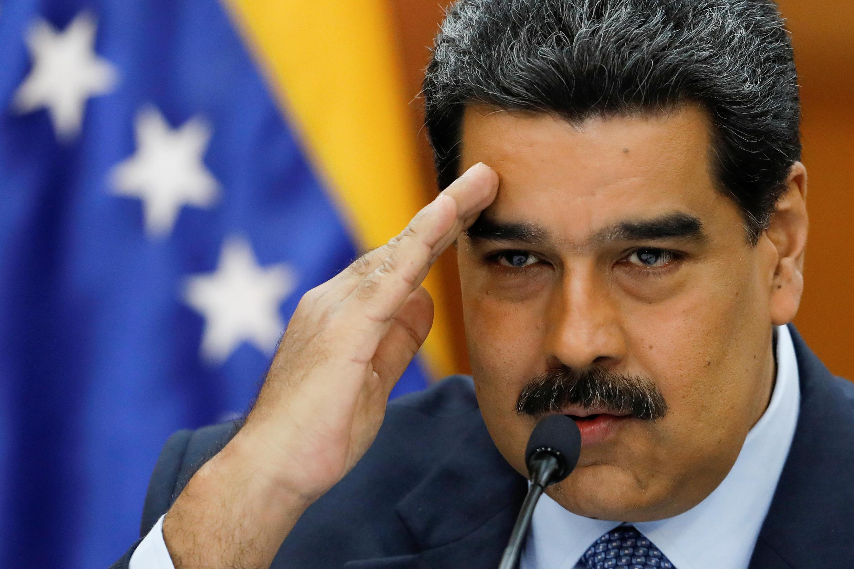 Le président vénézuélien Nicolas Maduro en conférence au Palais de Miraflores à Caracas, au Venezuela, le 9 janvier 2019.