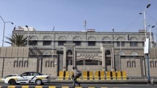 Le bâtiment où sont logés les bureaux d'Ahmed Awad ben Mubarak, directeur de cabinet du président du Yémen, à Sanaa.