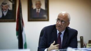 «Nous ne voulons pas recevoir d'argent si cela doit nous emmener devant des tribunaux», explique Saëb Erakat, le secrétaire général de l'Organisation de libération de la Palestine (photo d'archives).