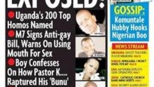 Capa de jornal em Uganda listou personalidades que seriam homossexuais