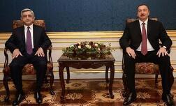 Президенты Армении и Азербайджана Серж Саргсян и Ильхам Алиев.