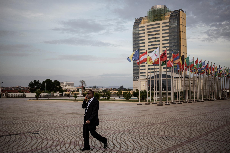 Le centre de conférences d'Antananarivo où a lieu le 16e sommet de la Francophonie ce week-end.