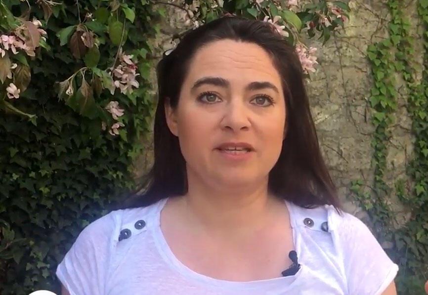 Hortense Harang fundadora da floricultura Fleurs d'Ici