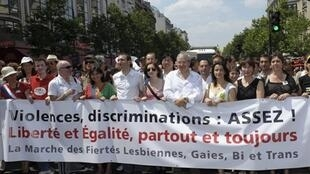 Socialists and Greens on the Paris Gay Pride parade