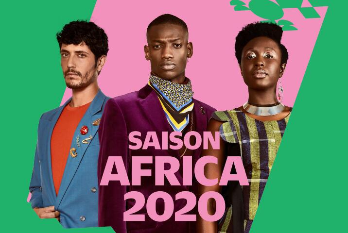 L'une des affiches officielles (détail) de la Saison Africa 2020, projetées pendant la présentation du programme par la commissaire générale N'Goné Fall.