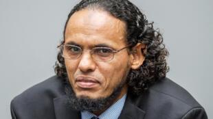 Le Malien Ahmed Al Faqi Al Mahdi lors de la première audience de son procès devant la CPI, le 22 août 2016 à La Haye, aux Pays-Bas.