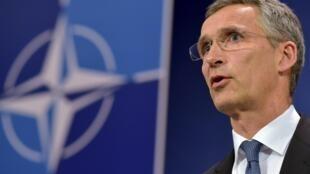 Tổng thư ký NATO Jens Stoltenberg. Ảnh ngày 24/06/2015.