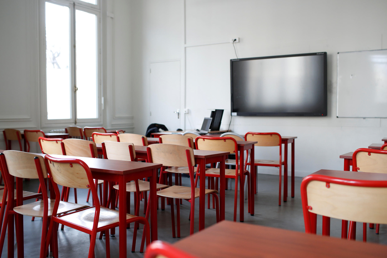 France - Coronavirus - Salle de classe