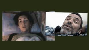 A jornalista Edith Bouvier e o fotógrafo britânico Paul Conroy, feridos na semana passada em um bombardeio em Homs, na Síria, chegaram nesta terça-feira ao Líbano.