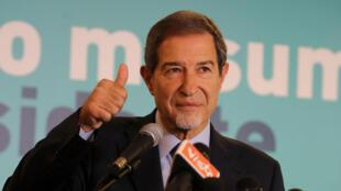 Nello Musumeci, candidat de la droite vainqueur des élections en Sicile est élu président de la région avec près de 40% des voix, lors d'une conférence de presse, le 6 novembre 2017.