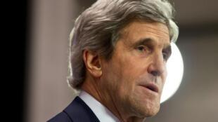 O secretário de Estado americano, John Kerry, fotografado em Bruxelas no dia 1° de abril de 2014.