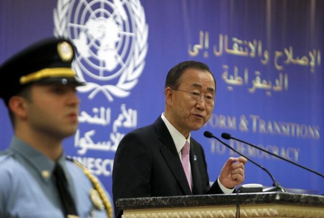 بان کی مون- دبیرکل سازمان ملل متحد، درسفرش به لبنان ، امروز باردیگر ازبشاراسد خواست به خشونت ها پایان دهد.