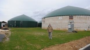 Une usine de biogaz dans une ferme d'Arcy à Chaumes-en-Brie, à 60 km au sud-est de Paris.
