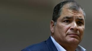 El expresidente de Ecuador Rafael Correa, el 9 de octubre de 2019 en Bruselas
