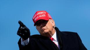 El presidente de Estados Unidos, Donald Trump, el 2 de noviembre de 2020 en Fayetteville, en Carolina del Norte