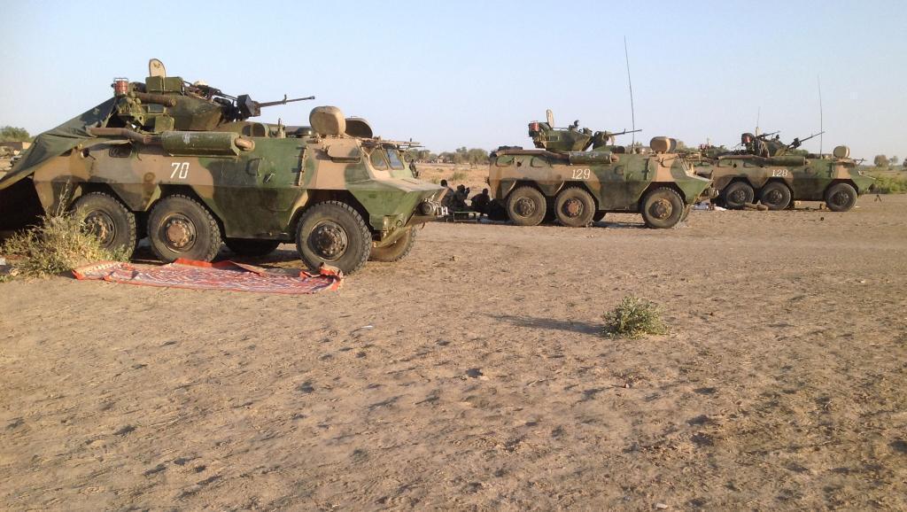Véhicules de l'armée tchadienne déployés au Cameroun pour lutter contre Boko Haram.