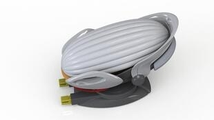 CarKoon is a baby seat for the car - if there is an accident a flexible shield whips round the baby