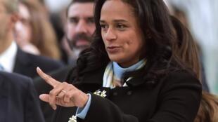 Isabel dos Santos. el 5 de Febrero de 2018. En Maia, Portugal.