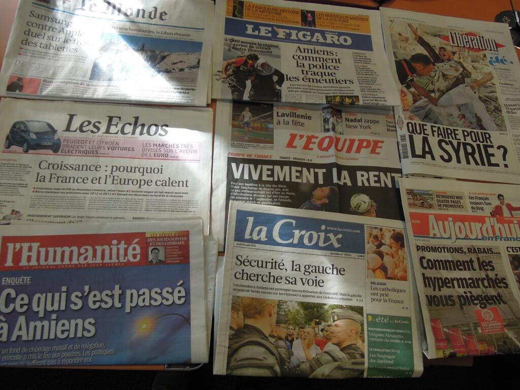 Diários franceses   16/08/2012