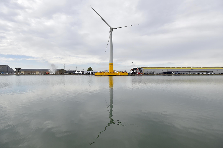 Photo d'illustration: la première éolienne en mer en France inaugurée le 13 Octobre 2017.