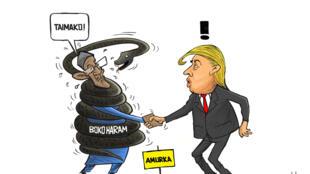 Ganawar Shugaba Buhari da Shugaban Amurka Donald Trump  daga Dr Meddy