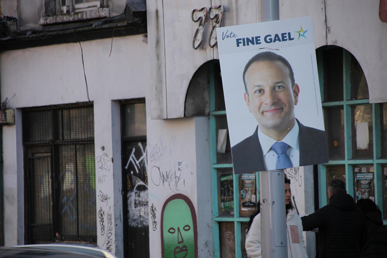 Election poster for incumbent Irish Prime Minister Leo Varadkar in Dublin
