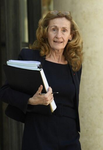 French Justice Minister Nicole Belloubet.