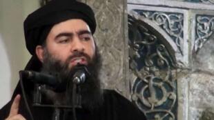 """恐怖组织""""伊斯兰国""""头目巴格达迪((Abu Bakr al-Bagdadi)"""