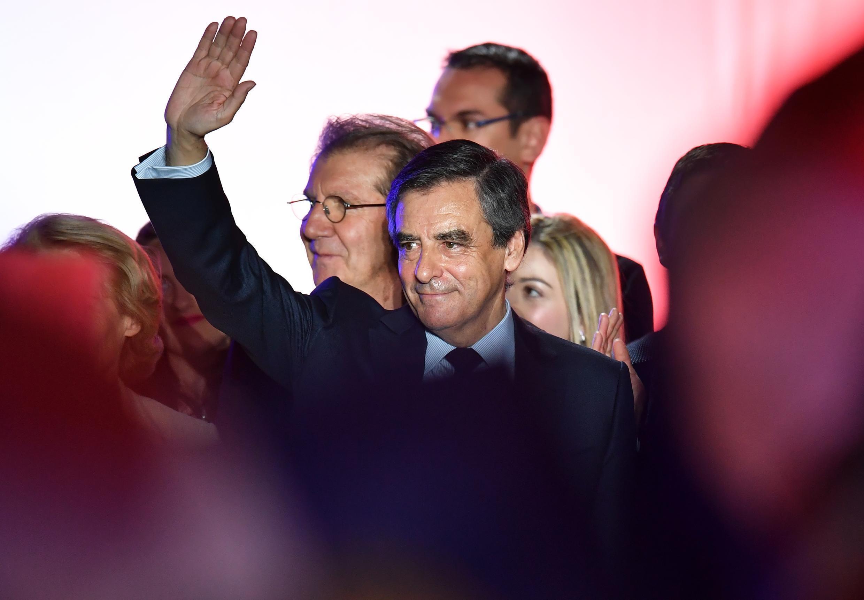 Ứng cử viên tổng thống Francois Fillon, trong cuộc mít-tinh tại Nimes, miền nam Pháp, ngày 02/03/2017.