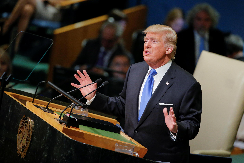 Tổng thống Trump phát biểu tại Đại hội đồng LHQ ngày 19/09/2017.