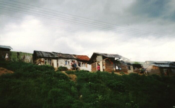 """Uma das muitas """"favelas"""" ciganas na Eslováquia."""