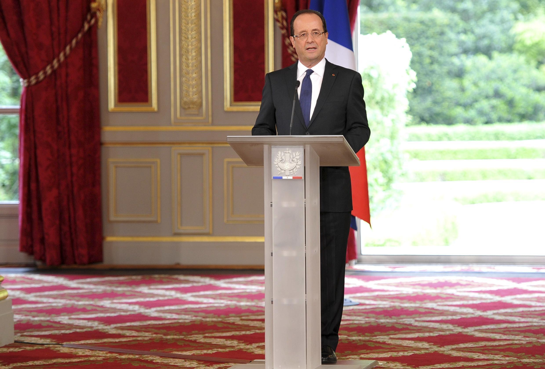 Речь Франсуа Олланда на церемонии инвеституры в Елисейском дворце 15/05/2012