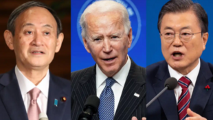 日美韩三国领导人资料图片