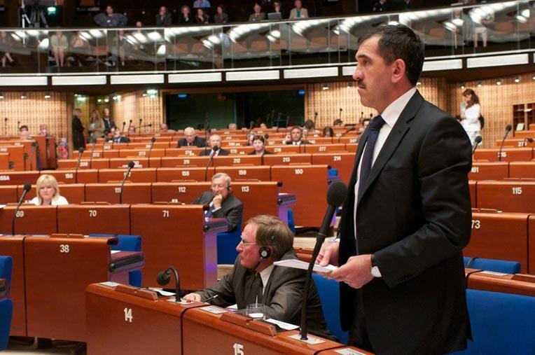 Президент Ингушетии Юнус-Бек Евкуров выступает в ПАСЕ.