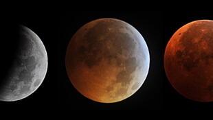 Стадии лунного затмения