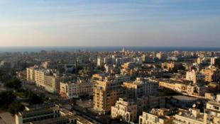 Vue d'ensemble de Benghazi, en Libye.