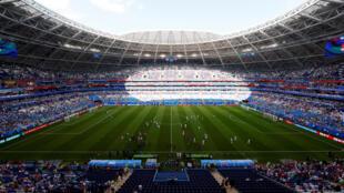 La Coupe du monde envahit les postes de télévision.