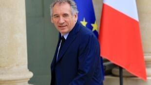 François Bayrou, ministre d'Etat, ministre de la Justice et garde des Sceaux.