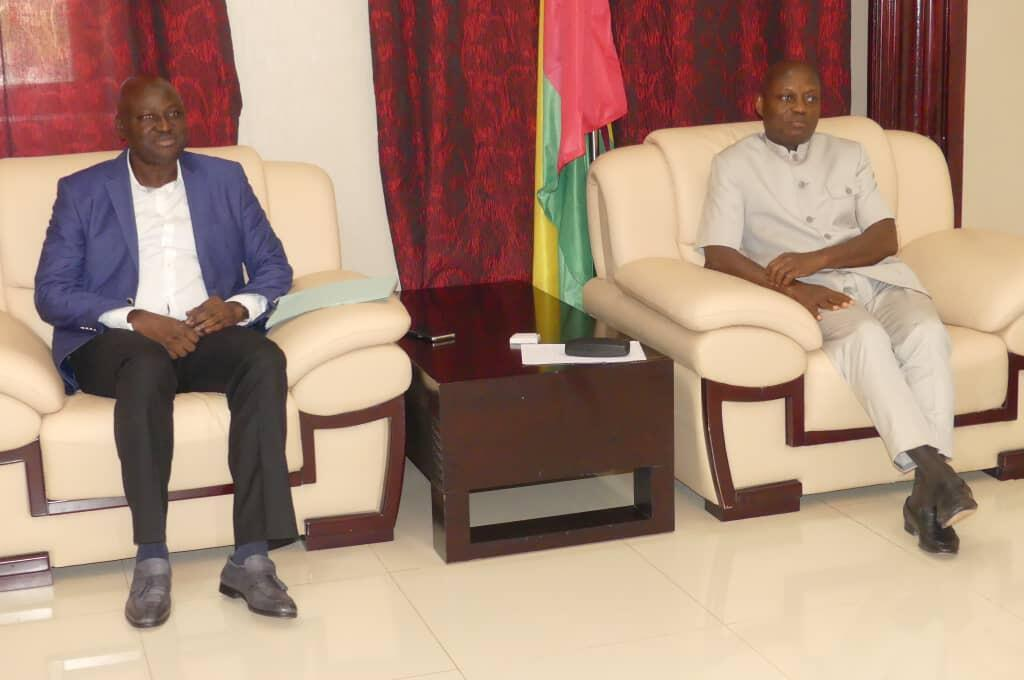 Primeiro-ministro guineense Aristides Gomes com o presidente José Mário Vaz em Bissau a 2 de Julho de 2019.