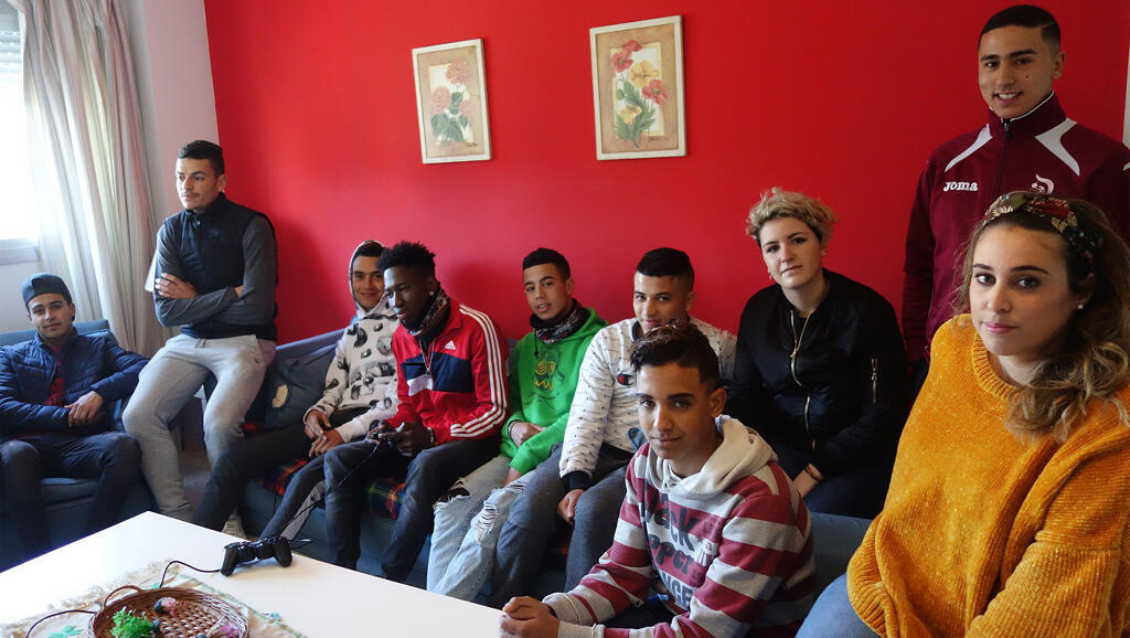 Des jeunes à l'association Voluntarios de Jerez por otro mundo (Andalousie).