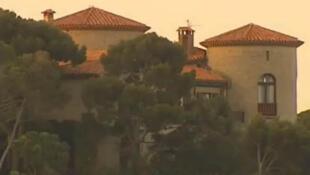 O Chateau Faraghi, residência da família Sarkozy no Cap Nègre, na Côte D'Azur.