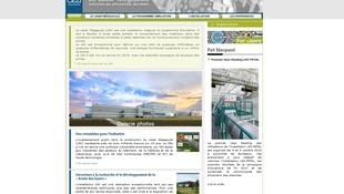 La page d'accueil du site internet du CEA, le Commissariat à l'Energie Atomique et aux Energies Alternatives, ou se trouve le laser Mégajoule, le 15 octobre 2018.